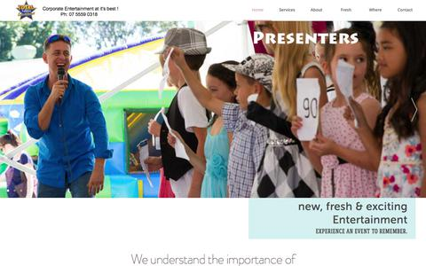 Screenshot of Home Page About Page Contact Page Services Page Team Page Menu Page Locations Page totaltalent.com.au - Total talent, entertainment agency gold coast childrens workshops, roving characters, stilt walkers - captured Oct. 9, 2017