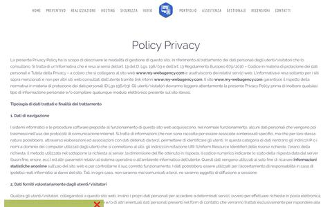 Screenshot of Privacy Page my-webagency.com - Policy Privacy - captured Dec. 15, 2018