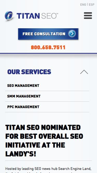 Titan SEO Nominated for Best Overall SEO Initiative at the Landy's!