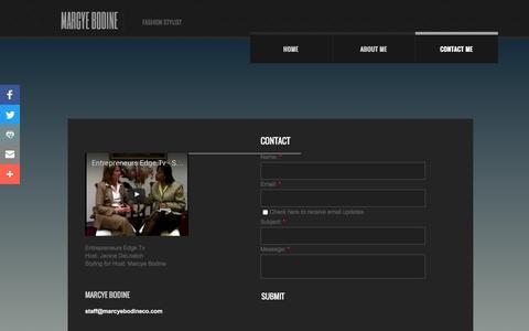 Screenshot of Privacy Page marcyebodineco.com - Contact Me - captured Nov. 27, 2016