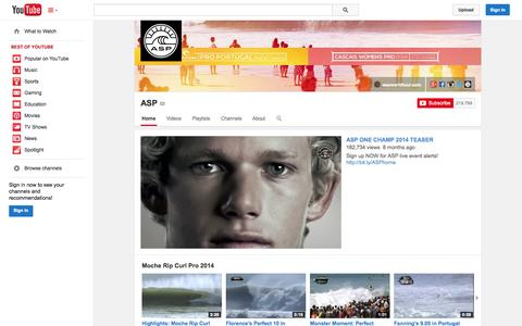 Screenshot of YouTube Page youtube.com - ASP  - YouTube - captured Oct. 23, 2014