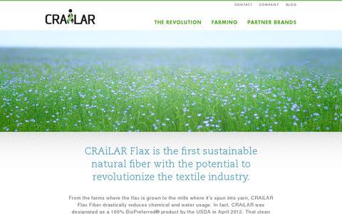 Screenshot of Home Page crailar.com - Home | CRAiLAR - captured July 12, 2014