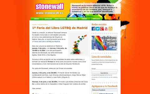 Screenshot of Home Page stonewall.es - Editorial Stonewall - captured Oct. 2, 2014