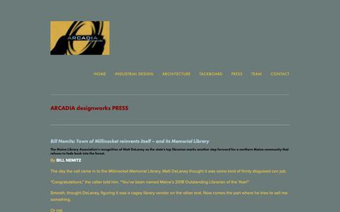 Screenshot of Press Page arcadiadesignworks.com - Arcadia designworks Press — Arcadia designworks - captured Dec. 9, 2018