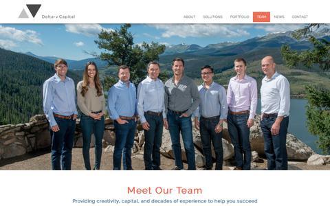 Screenshot of Team Page deltavcapital.com - Team - Delta-v Capital - captured Dec. 7, 2017