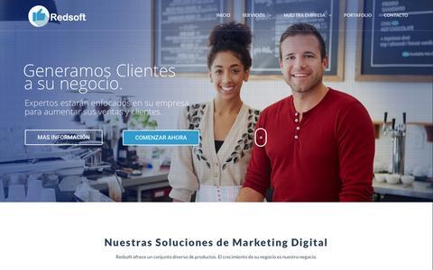 Screenshot of Home Page redsoftchile.cl - Redsoft - Marketing Digital - Diseño Web - Redsoft - Diseño Web - Marketing Digital - captured Feb. 14, 2016
