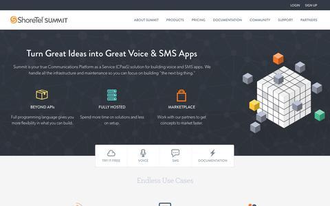 SMS API & Voice API - Build Powerful Communication Apps   Shoretel Summit Developers