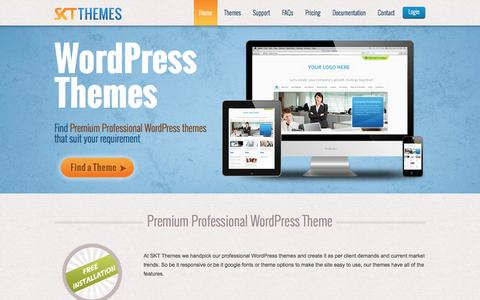 Screenshot of Home Page sktthemes.net - Professional WordPress Themes used by over 300k users - captured July 13, 2016
