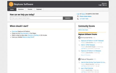 Screenshot of Support Page neptune-software.com - Support : Neptune Software - captured Aug. 12, 2016
