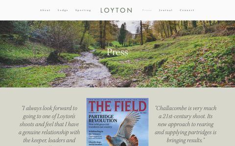 Screenshot of Press Page loyton.com - Loyton Press — Loyton - captured Sept. 30, 2018