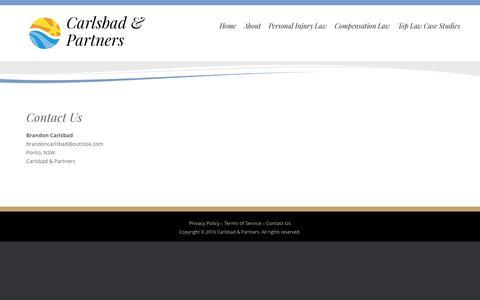 Screenshot of Contact Page acecarlsbad.com - Contact Us – Carlsbad & Partners - captured Nov. 20, 2016