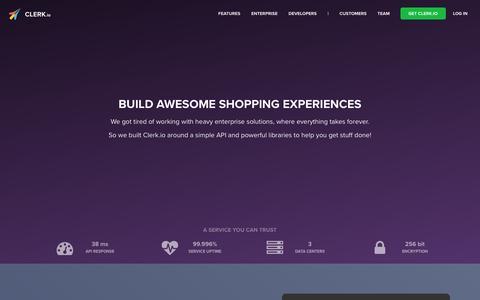 Screenshot of Developers Page clerk.io - Built By Developers, For Developers - Clerk.io - captured Sept. 3, 2016