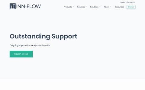 Screenshot of Support Page inn-flow.com - Multi-Channel Support Services | Inn-Flow - captured Nov. 8, 2019