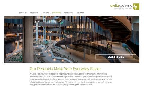 Screenshot of Case Studies Page sediasystems.com - Sedia Systems Case Studies - captured Aug. 11, 2016