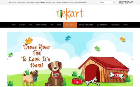 Screenshot of Home Page tiekart.com - Ties and more I Fashion accessories for Men, Women and Kids - captured Nov. 7, 2018