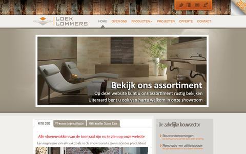 Screenshot of Home Page Privacy Page loeklommers.nl - Loek Lommers B.V. - Tegelhandel - Tegelzettersbedrijf - captured Jan. 31, 2016