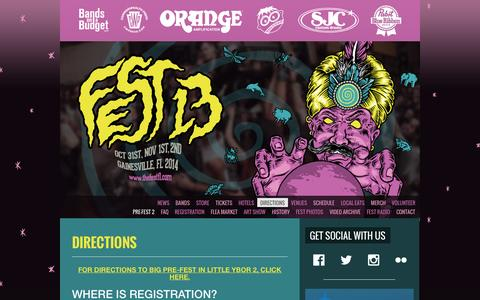 Screenshot of Maps & Directions Page thefestfl.com - FEST 13 » Directions - captured Sept. 24, 2014