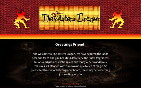 Screenshot of Home Page jestersdragon.co.uk captured Nov. 16, 2017