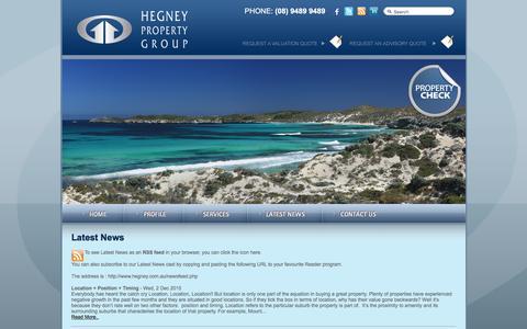 Screenshot of Press Page hegney.com.au - Latest News - captured Jan. 28, 2016