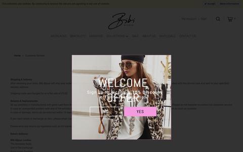 Screenshot of Support Page bibibijoux.com - Customer Service - captured Oct. 5, 2018