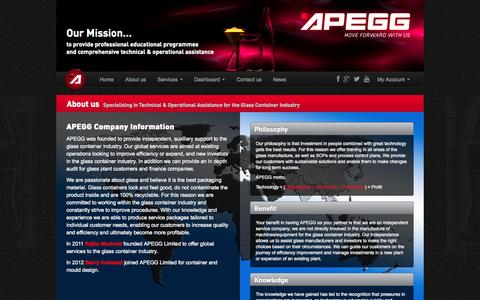Screenshot of About Page apegg.com - About us | APEGG Ltd - captured Oct. 4, 2014