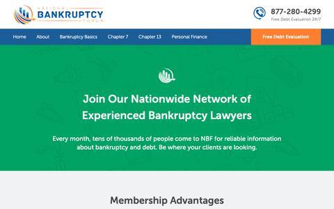 Screenshot of Signup Page natlbankruptcy.com - Attorney Sign Up - National Bankruptcy Forum - captured Oct. 18, 2018