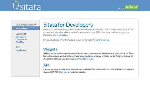 Screenshot of Developers Page sitata.com - A Safer Way To Travel - Sitata - captured Oct. 26, 2014