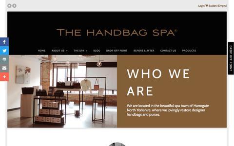 Screenshot of About Page thehandbagspa.com - Who We Are - The Handbag Spa - captured Nov. 30, 2016