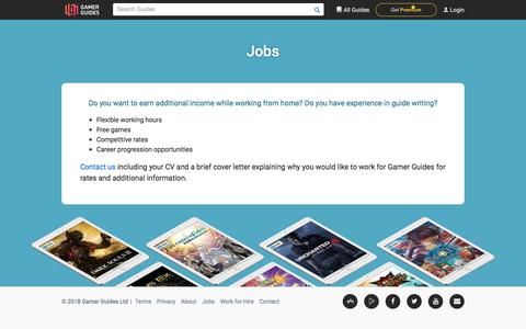 Screenshot of Jobs Page gamerguides.com - Gamer Guides - Jobs - captured July 12, 2018