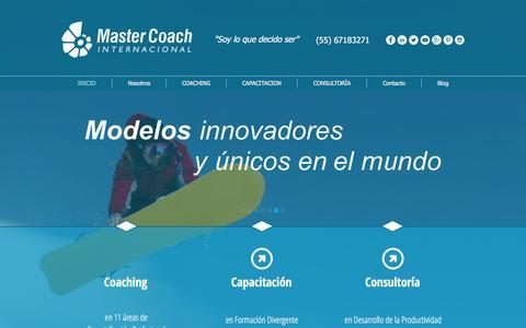 Screenshot of Home Page mastercoach.mx - Coaching, Capacitacion y Consultoria. Master Coach Internacional. - captured Feb. 12, 2016