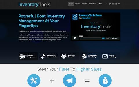 Screenshot of Home Page inventory-tools.com - Inventory Tools - Boat Dealer Inventory Management Suite - captured Oct. 3, 2014