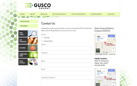 Screenshot of Contact Page gogusco.com - Contact Us | Gusco - captured Oct. 18, 2016