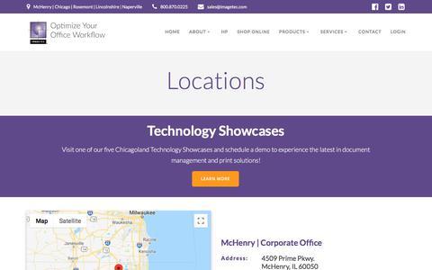Screenshot of Locations Page imagetec.com - Locations – IMAGETEC L.P. | Optimize Your Office Workflow - captured Sept. 25, 2018