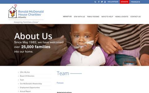 Screenshot of Team Page rmhatlantic.com - Team - RMHC Atlantic - captured Oct. 20, 2018