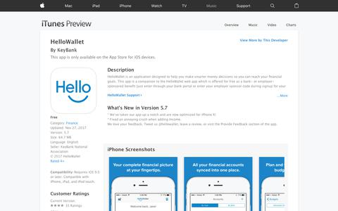 HelloWallet on the App Store