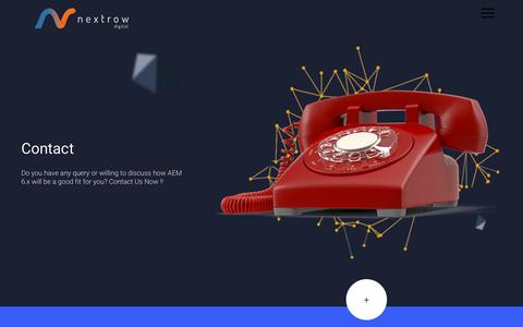 Screenshot of Contact Page nextrow.com - Contact Us - - captured Sept. 23, 2018