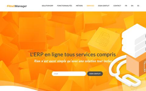 Screenshot of Services Page fitnetmanager.com - Service ERP SaaS tout compris - Fitnet Manager - captured Nov. 6, 2018