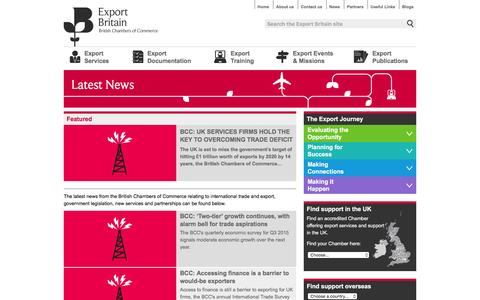 Screenshot of Press Page exportbritain.org.uk - Export News | International Trade Insights | Export Britain - captured March 2, 2016
