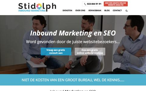 Screenshot of Home Page stidolph.nl - Stidolph Inbound Marketing - captured Sept. 1, 2015