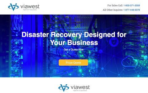 Screenshot of Landing Page viawest.com - Disaster Recovery Webinar | ViaWest Hybrid IT Solutions - captured July 30, 2016