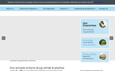 Screenshot of Home Page canadiancentreforaddictions.org - Private Ontario Drug Rehab That's Exclusive & Trusted - captured June 15, 2019