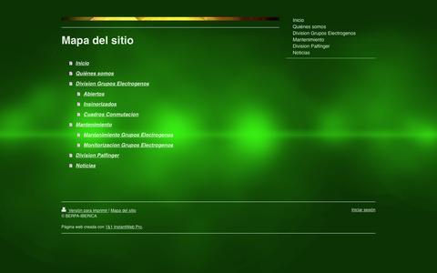 Screenshot of Site Map Page berpa-iberica.com - Berpa Iberica Mantenimiento y Venta de Grupos Electr�genos. - captured Jan. 1, 2016