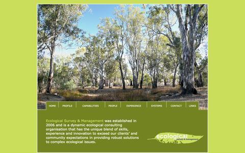 Screenshot of Home Page ecosm.com.au - Ecological Survey & Management - captured Nov. 10, 2018