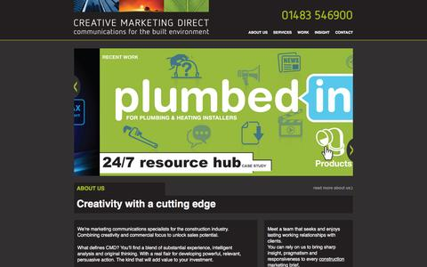 Screenshot of Home Page creativemarketingdirect.co.uk - CREATIVE MARKETING DIRECT - Communications for the Built Environment - captured Nov. 12, 2016