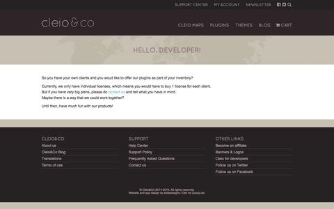 Screenshot of Developers Page cleio.co - Cleio for developers | Cleio & Co - captured June 2, 2016