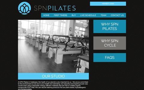 Screenshot of About Page spnpilates.com - Studio - SPN Pilates - captured Sept. 30, 2014