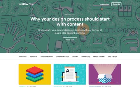 High traffic Blogs on Webflow | Website Inspiration and Examples