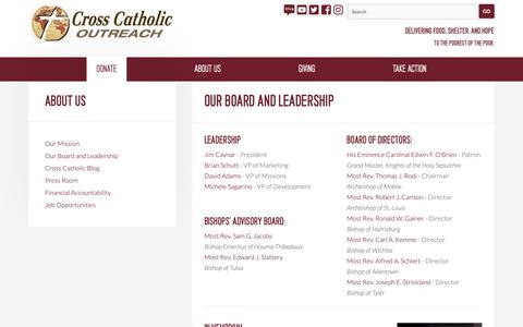 Screenshot of Team Page crosscatholic.org - Our Board and Leadership — Cross Catholic Outreach - captured Dec. 16, 2018