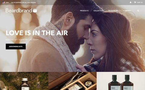 Screenshot of Home Page beardbrand.com - Beardbrand | Beard care, oil, grooming, trimming, & styling products - captured Feb. 3, 2016