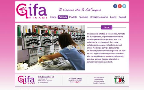 Screenshot of Team Page gifa.it - www.gifa.it - Team - captured Oct. 2, 2014